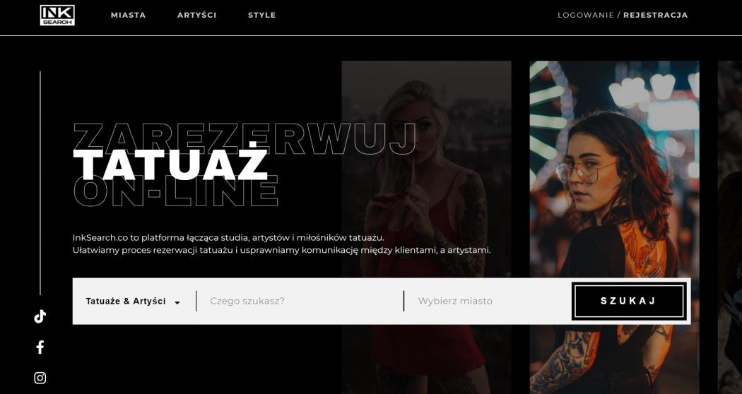 INKsearch platforma rezerwacji tatuażu online